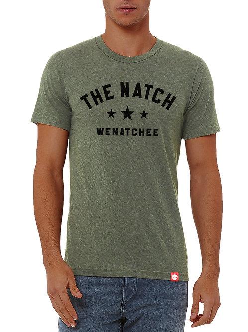 The Natch Stars Tee - MEN'S - Military Green