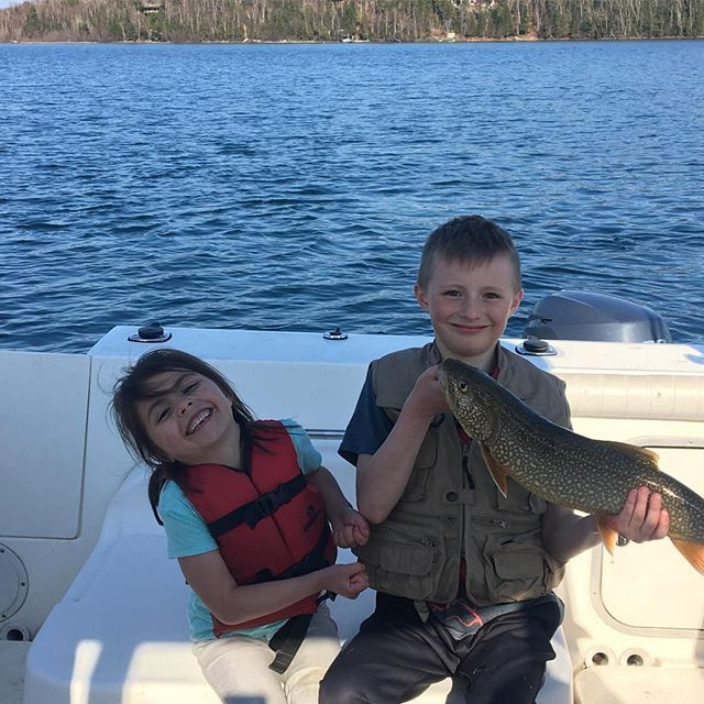 A nice day for fishing! 🎣 #fishing #angler #laketrout #trout #fish #greatlake #greatoutdoors #adventure #nature #evansfishingedge