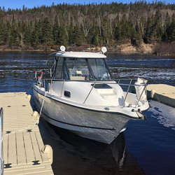 Trying out the new boat this morning. We are all ready for some fishing on the Great Lake