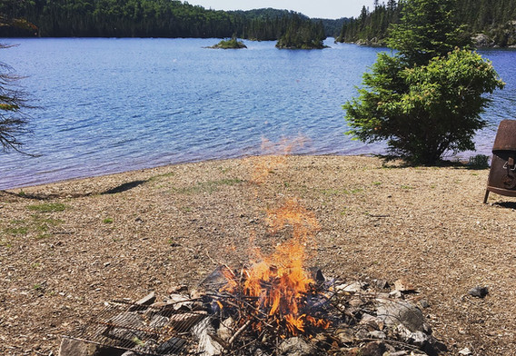 Slate Islands campfire