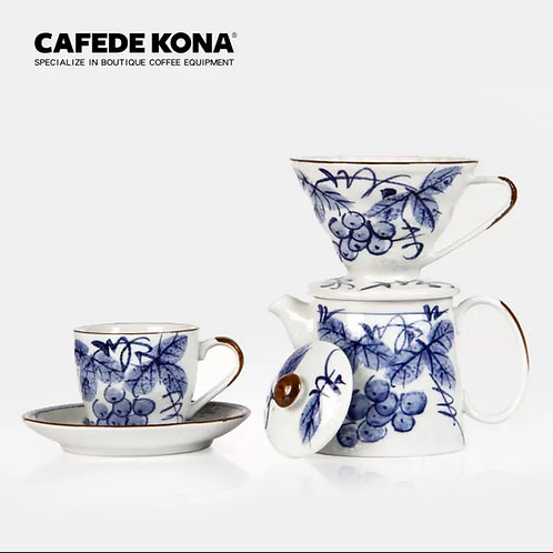 Ceramic Coffee Cup  (Blue)