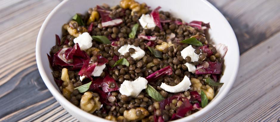Autumnal Beetroot, Lentil & Walnut Salad