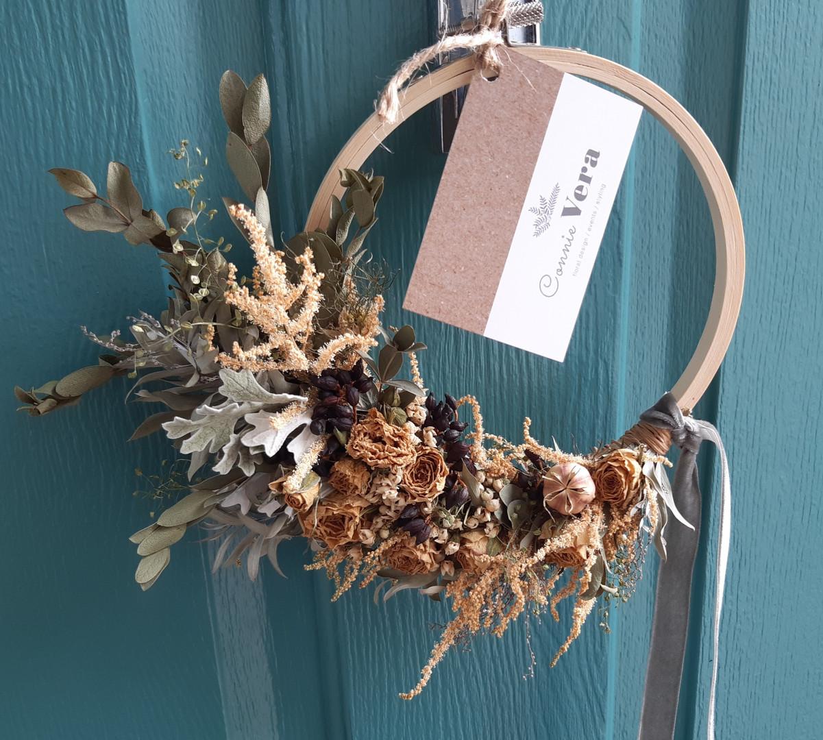 Peaches & Cream Dried Wreath