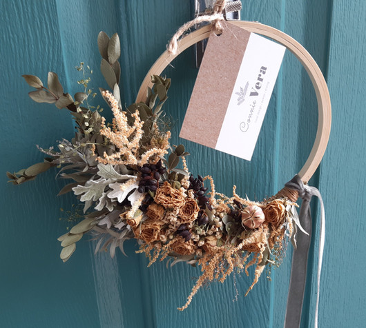 Peaches & Cream Dried Wreath