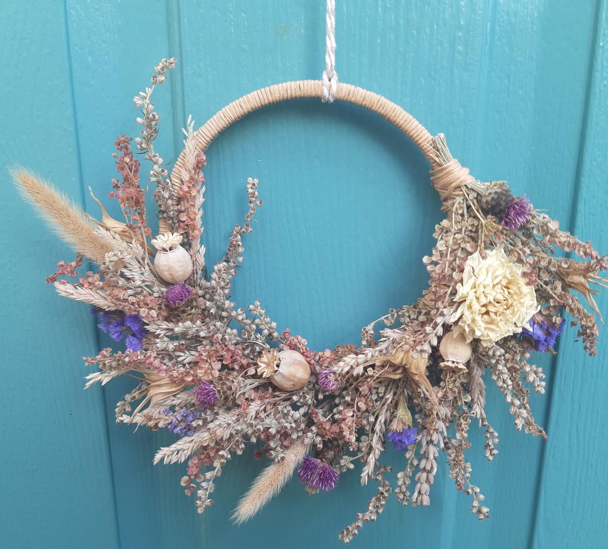 Pretty in Pink Dried Flower Wreath