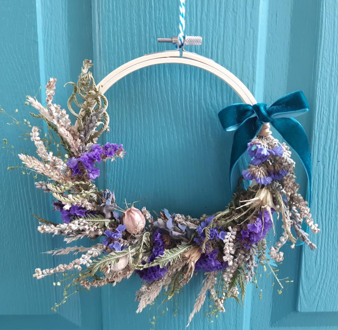 Purple Rain Dried Wreath