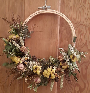Spring Awakening Dried Wreath