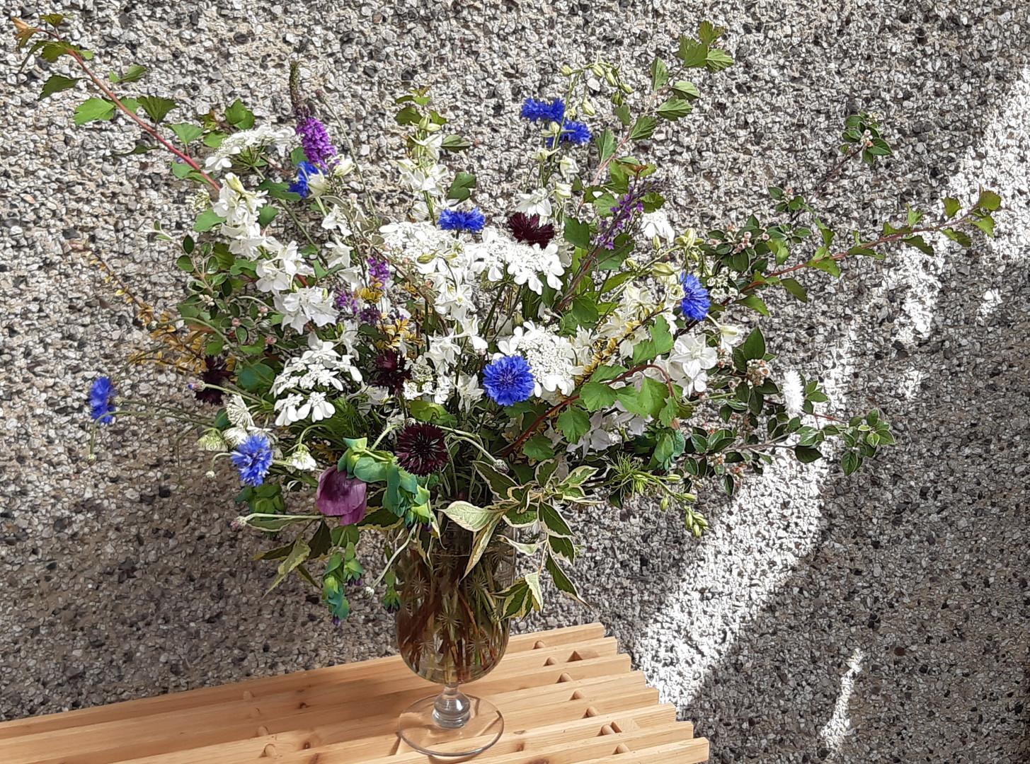 British flower vase arrangement