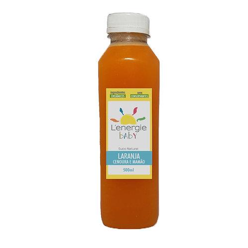Suco de Laranja com Cenoura e Mamão 500 ml