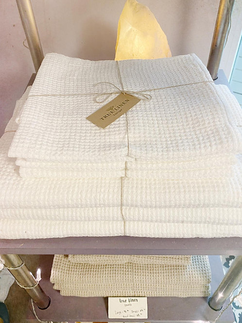 True Linen Waffle Linen Towels