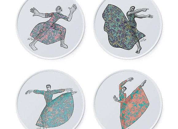 SIDE PLATES (SET OF 4) - dancer