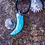 Thumbnail: Their love was fierce and gentle at once (Turquoise Horn Pendant)