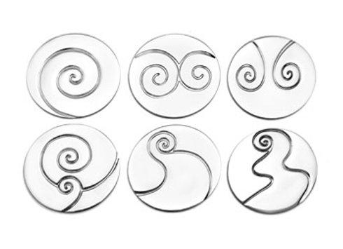 COASTER SET OF 6 - shapes