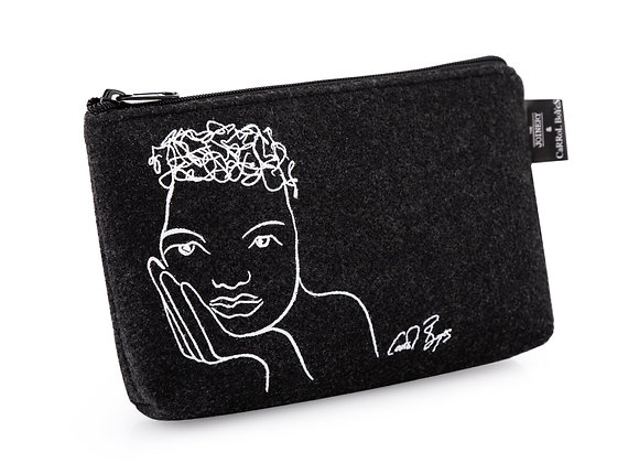 POUCH FELT - knowing -charcoal