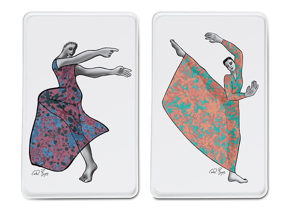 PLATTER RECTANGLE SET 2 - dancer