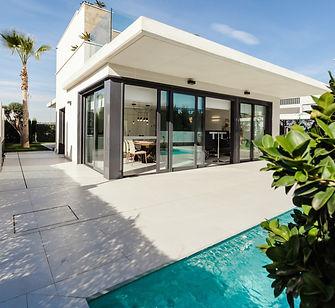 Modern house sliding pocket doors