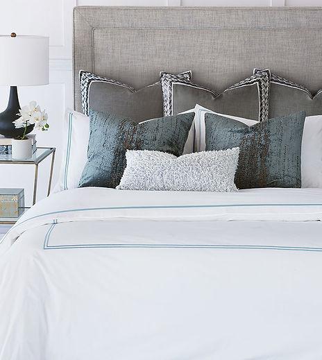 Custom bedding Tailored Interiors LLC