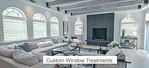 Custom window treatments Norman USA Tailored Interiors LLC Living Room
