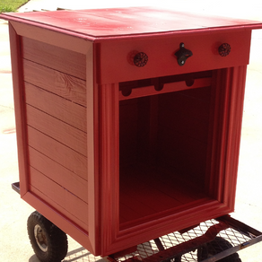Building A Mini Fridge Cabinet For Storage! It's Time To Face The Fact That Your Trailer Is Small!