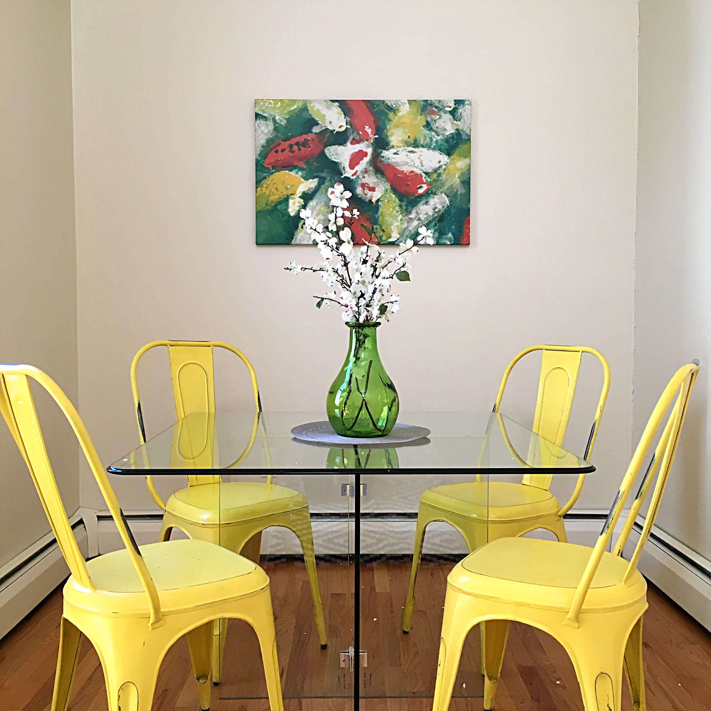 Contemporary Dining Area Close up