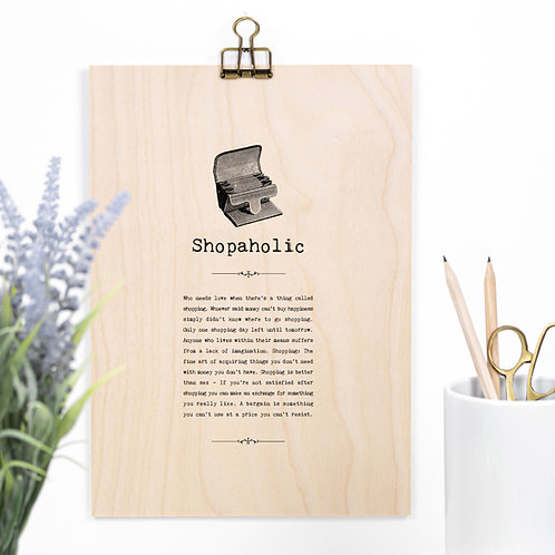 Shopping Wooden Quotes Plaque x 3