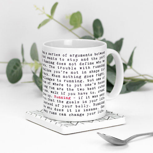 Running Quotes Mug Gift for Runners