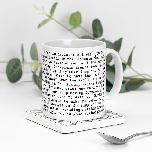 Boxing Quotes Mug Gift for Boxers
