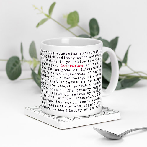 Literature Quotes Mug for Bookworms