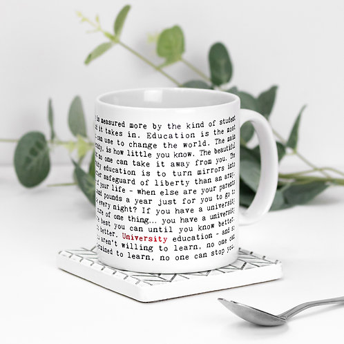 University Quotes Mug for Students