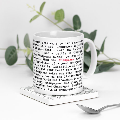 Champagne Funny Quotes Mug for Her