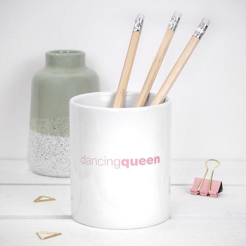 Dancing Queen Quote Ceramic Pot