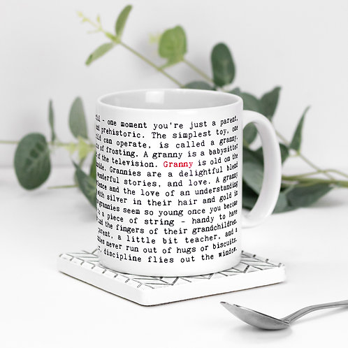 Granny Quotes Mug Gift for Grandmother