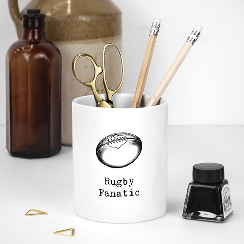 Rugby Fanatic | Vintage Words Utensil Pot x 3