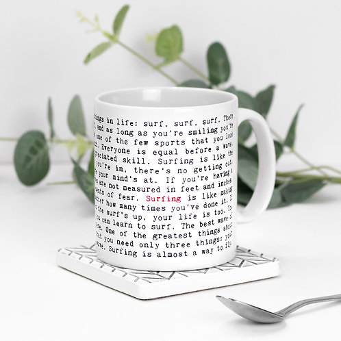 Surfing Quotes Mug Gift for Surfers