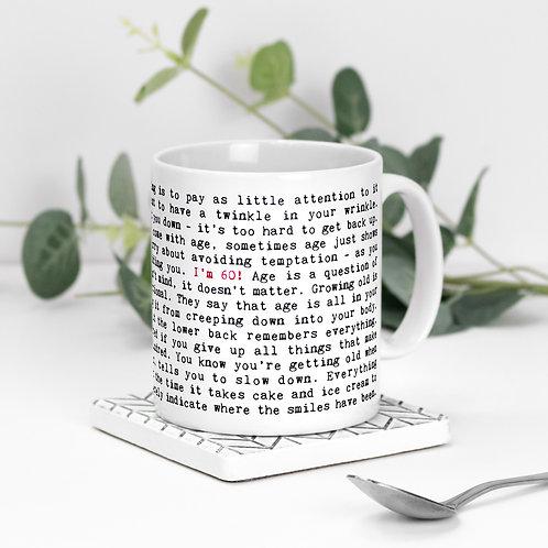 60th Birthday Mug with Quotes