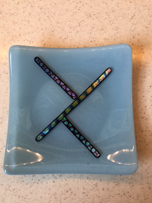 "5"" sq with Dichroic Glass"