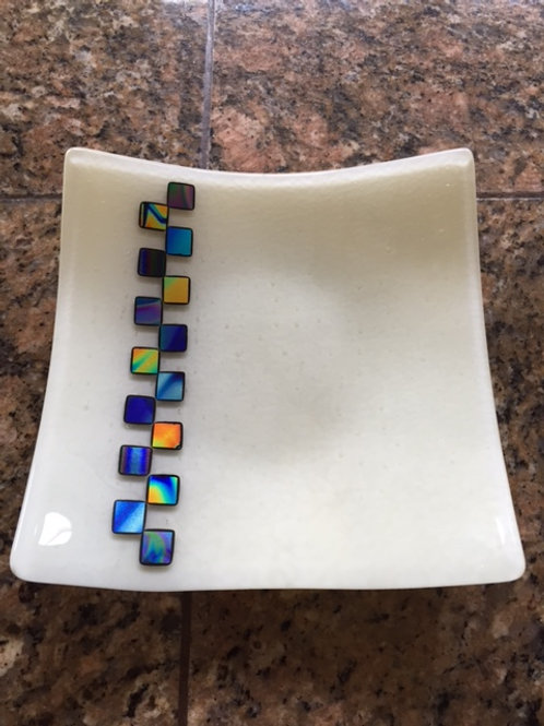 "9"" sq with Dichroic Glass"