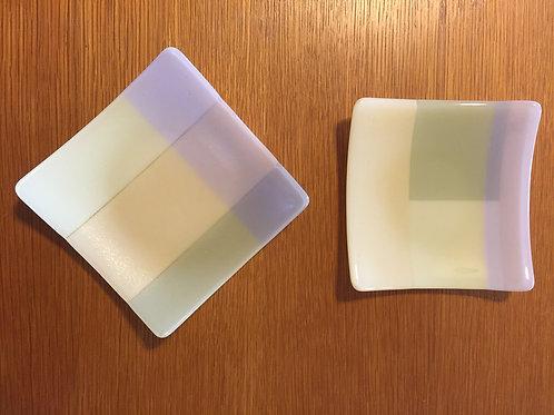 "6"" sq Pastel Plates"