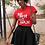 Thumbnail: Adult White Text SuperWoman Jersey Short Sleeve Tee