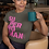 Thumbnail: Adult Pink Text SuperWoman Jersey Short Sleeve Tee