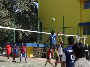 Volleyball match at PCMRD