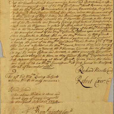 Order Concerning Herman Garretts