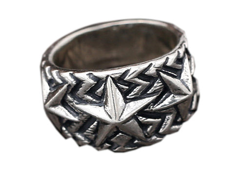 925 sterling silver star goth punk ring