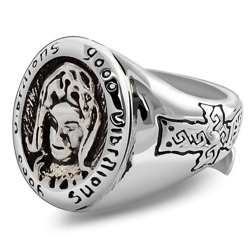 925 sterling silver punk St.Maria ring