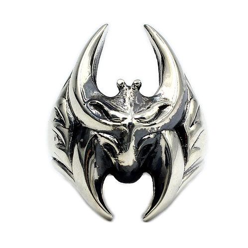 925 sterling silver bat goth punk ring