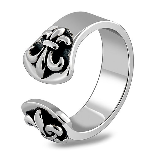 925 sterling silver punk rider iron ring