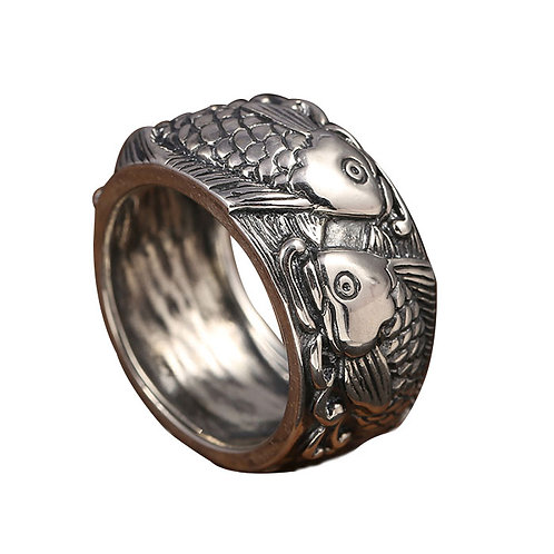 925 sterling silver punk rider ring