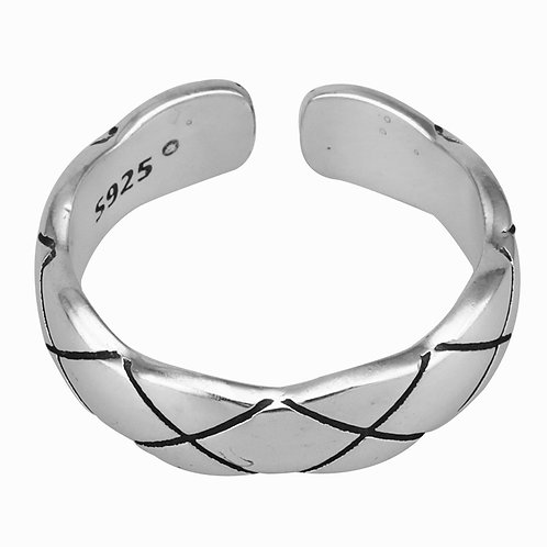 925 sterling silver goth punk rider ring