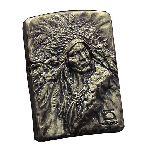 Indian chief lighter Handmade original 925 sterling silver