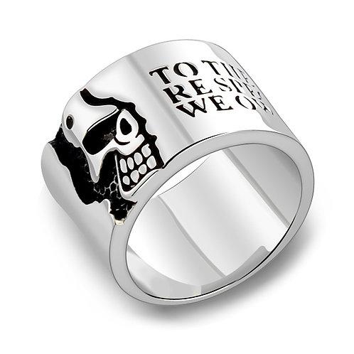 925 sterling silver skull punk rider ring